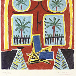 1959 Interieur rouge avec un transatlantique bleu, Pablo Picasso (1881-1973) Period of creation: 1943-1961