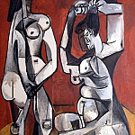 Pablo Picasso (1881-1973) Period of creation: 1943-1961 - 1956 Femmes Е la toilette