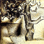 Pablo Picasso (1881-1973) Period of creation: 1943-1961 - 1944 Arbres [Рtudes]