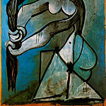 Pablo Picasso (1881-1973) Period of creation: 1943-1961 - 1952 Femme nue se tordant les cheveux