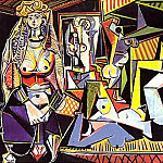 1955 Les femmes dAlger XV, Pablo Picasso (1881-1973) Period of creation: 1943-1961