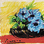 1960 Fleurs, Pablo Picasso (1881-1973) Period of creation: 1943-1961