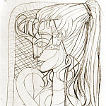1954 Portrait de Sylvette David 06, Pablo Picasso (1881-1973) Period of creation: 1943-1961
