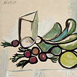1944 Verre et fruits, Pablo Picasso (1881-1973) Period of creation: 1943-1961