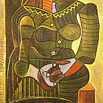 Pablo Picasso (1881-1973) Period of creation: 1943-1961 - 1943 Femme en vert (Dora Maar)