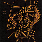 1959 TИte de femme, Pablo Picasso (1881-1973) Period of creation: 1943-1961