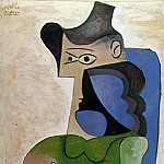 1961 Femme assise au chapeau, Pablo Picasso (1881-1973) Period of creation: 1943-1961