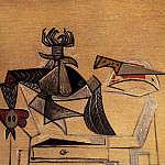 1947 Volaille et couteau sur une table, Pablo Picasso (1881-1973) Period of creation: 1943-1961