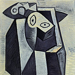 1947 Visage, Pablo Picasso (1881-1973) Period of creation: 1943-1961