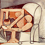 Pablo Picasso (1881-1973) Period of creation: 1943-1961 - 1961 Femme Е la toilette
