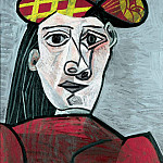 Pablo Picasso (1881-1973) Period of creation: 1943-1961 - 1943 Buste de femme au chapeau
