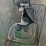 1961 Femme assise au chapeau , Pablo Picasso (1881-1973) Period of creation: 1943-1961