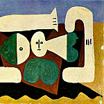 Pablo Picasso (1881-1973) Period of creation: 1943-1961 - 1960 Nu sur la plage et pelle