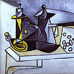 Pablo Picasso (1881-1973) Period of creation: 1943-1961 - 1944 Nature morte au fromage