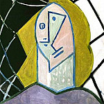 1945 TИte de femme, Pablo Picasso (1881-1973) Period of creation: 1943-1961