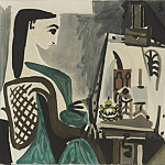 1956 Femme dans latelier II, Pablo Picasso (1881-1973) Period of creation: 1943-1961