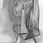 1954 Portrait de Sylvette David 02, Pablo Picasso (1881-1973) Period of creation: 1943-1961