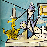 Pablo Picasso (1881-1973) Period of creation: 1943-1961 - 1944 Nature morte au bougeoir R1