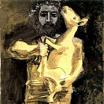 Pablo Picasso (1881-1973) Period of creation: 1943-1961 - 1943 Lhomme au mouton [Рtude]