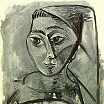 1955 Portrait de Jacqueline, Pablo Picasso (1881-1973) Period of creation: 1943-1961