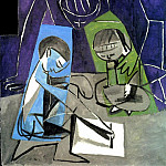 Pablo Picasso (1881-1973) Period of creation: 1943-1961 - 1954 Claude dessinant, FranЗoise et Paloma