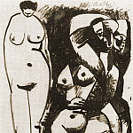 1956 Deux nus, Pablo Picasso (1881-1973) Period of creation: 1943-1961