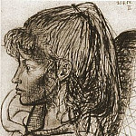1954 Portrait de Sylvette David 07, Pablo Picasso (1881-1973) Period of creation: 1943-1961