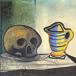 Pablo Picasso (1881-1973) Period of creation: 1943-1961 - 1943 Nature morte au crГne et au pot 2