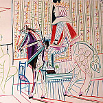 1954 Le roi Е cheval et modКle I, Pablo Picasso (1881-1973) Period of creation: 1943-1961