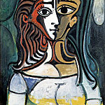 Pablo Picasso (1881-1973) Period of creation: 1943-1961 - 1960 Buste de femme 2