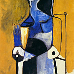 1960 Femme assise, Pablo Picasso (1881-1973) Period of creation: 1943-1961