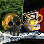 Pablo Picasso (1881-1973) Period of creation: 1943-1961 - 1943 Nature morte au crГne et au pot 1