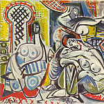 1954 Les femmes dAlger I, Pablo Picasso (1881-1973) Period of creation: 1943-1961