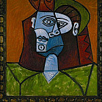 1947 Femme au chapeau vert, Pablo Picasso (1881-1973) Period of creation: 1943-1961