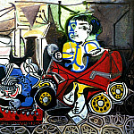 Pablo Picasso (1881-1973) Period of creation: 1943-1961 - 1950 Claude et Paloma jouant