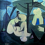 1960 Le dВjenuer sur lherbe 4, Pablo Picasso (1881-1973) Period of creation: 1943-1961