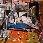 Pablo Picasso (1881-1973) Period of creation: 1943-1961 - 1953 Femme nue dans latelier