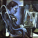 Pablo Picasso (1881-1973) Period of creation: 1943-1961 - 1957 Jacqueline devant un tableau