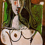 1960 Buste de femme assise, Pablo Picasso (1881-1973) Period of creation: 1943-1961