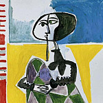 1954 Jacqueline accroupie 2, Pablo Picasso (1881-1973) Period of creation: 1943-1961