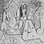1955 Les femmes dAlger XI, Pablo Picasso (1881-1973) Period of creation: 1943-1961