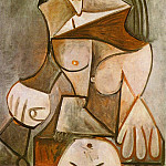 1959 Femme nue assise I, Pablo Picasso (1881-1973) Period of creation: 1943-1961