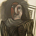 Pablo Picasso (1881-1973) Period of creation: 1943-1961 - 1943 Femme assie Е la robe grise
