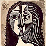 1958 TИte de femme, Pablo Picasso (1881-1973) Period of creation: 1943-1961