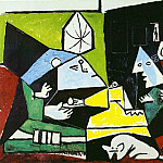 1957 Les Menines – Vue densemble sauf VВlasquez , Pablo Picasso (1881-1973) Period of creation: 1943-1961