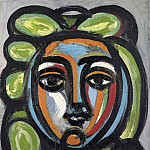 Pablo Picasso (1881-1973) Period of creation: 1943-1961 - 1946 TИte de femme aux boucles vertes