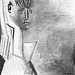 1954 Portrait de Sylvette David 14, Pablo Picasso (1881-1973) Period of creation: 1943-1961