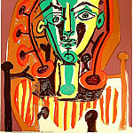 1949 Figure au corsage rayВ, Pablo Picasso (1881-1973) Period of creation: 1943-1961