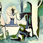 1961 Le dВjeuner sur lherbe 12, Pablo Picasso (1881-1973) Period of creation: 1943-1961