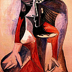 1960 Femme assise I, Pablo Picasso (1881-1973) Period of creation: 1943-1961